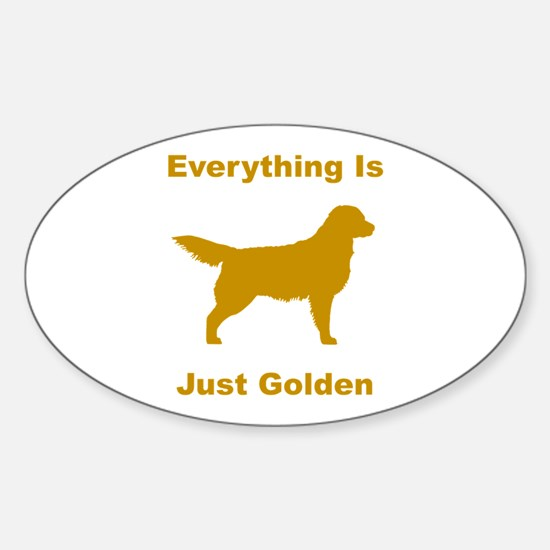 Just Golden Oval Decal