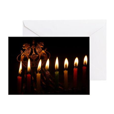 Hannukah Menorah Greeting Card (Blank or Custom)