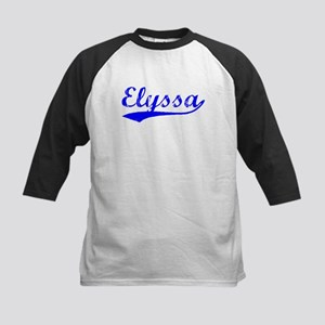 Vintage Elyssa (Blue) Kids Baseball Jersey