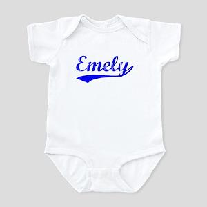 Vintage Emely (Blue) Infant Bodysuit