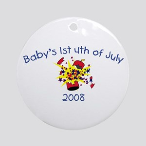 Baby's 1st 4th Of July 2008 (Firecracker) Ornament