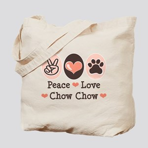 Peace Love Chow Chow Tote Bag