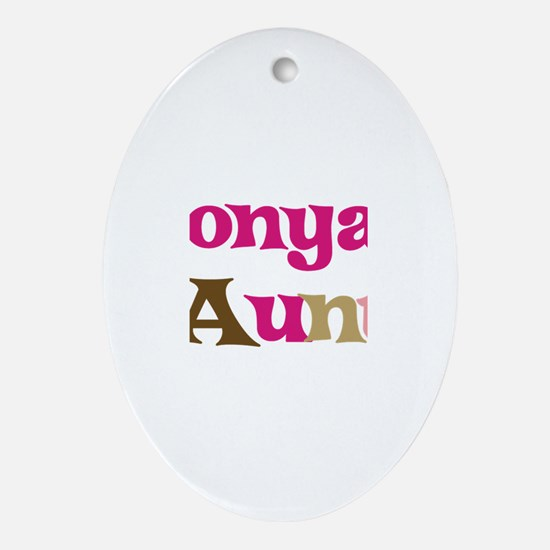 Tonya's Aunt Oval Ornament