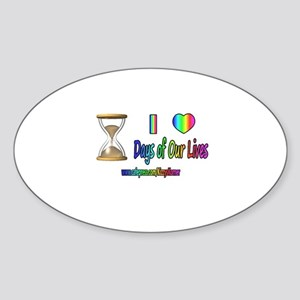 LOVE DAYS OF OUR LIVES Oval Sticker
