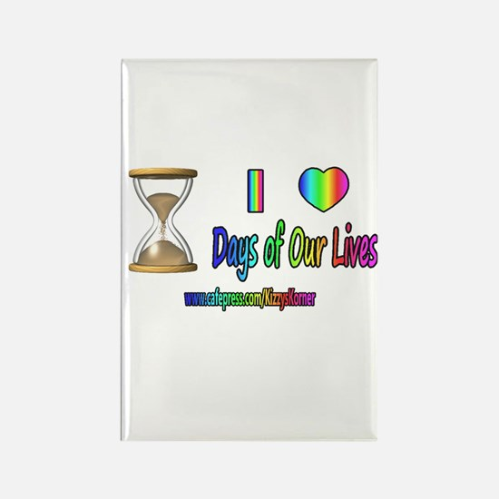 LOVE DAYS OF OUR LIVES Rectangle Magnet
