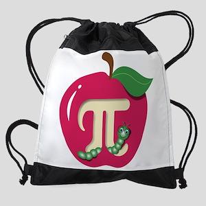 Red Apple Pi Drawstring Bag