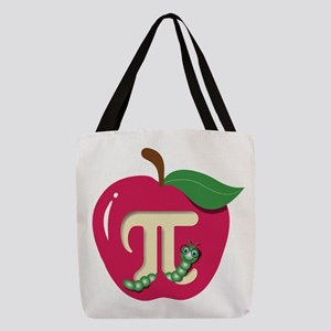 Red Apple Pi Polyester Tote Bag