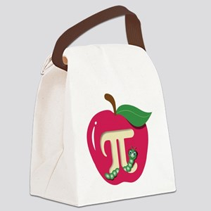 Red Apple Pi Canvas Lunch Bag