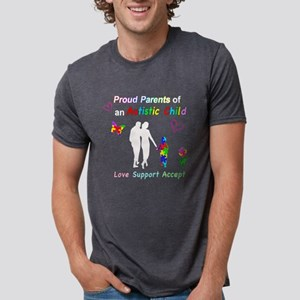 Proud Autism Parents Mens Tri-blend T-Shirt