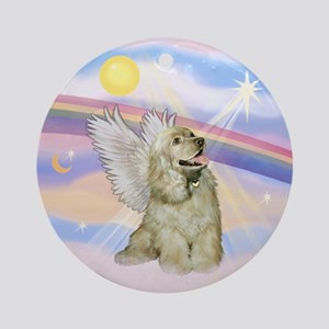Cocker Spaniel Angel (Buff) Ornament (Round)