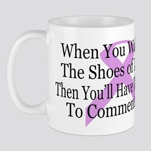 Walk in the shoes of Lupus Mug