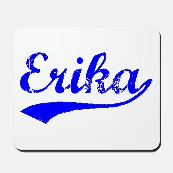 Vintage Erika (Blue) Mousepad