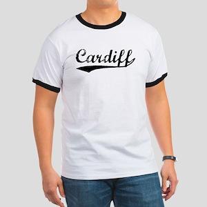 Vintage Cardiff (Black) Ringer T
