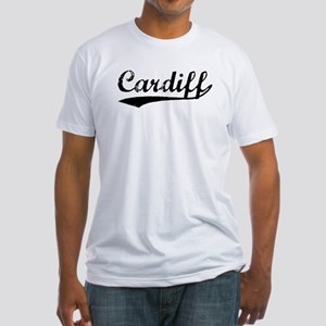 Vintage Cardiff (Black) Fitted T-Shirt