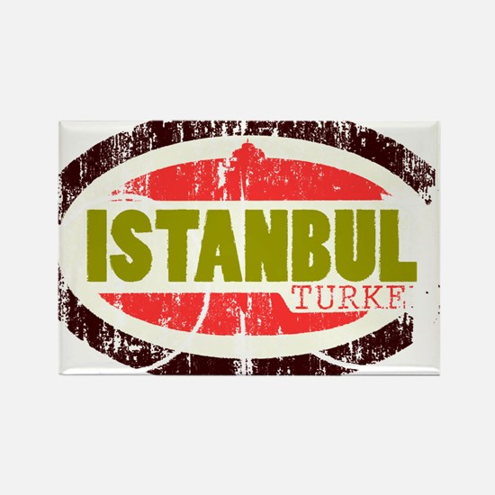 Unique Istanbul Rectangle Magnet