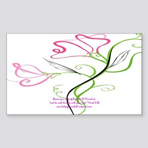 lady of Proverbs 31 Rectangle Sticker