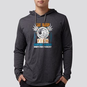 Eat Sleep Fish Repeat Again T Long Sleeve T-Shirt