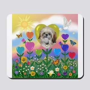 Heart Garden with Shih Tzu Mousepad