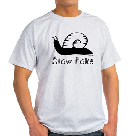 Slow Poke Snail Light T-Shirt