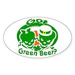 Funny Saint Patrick's Oval Sticker