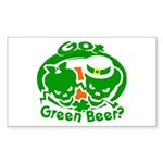 Funny Saint Patrick's Rectangle Sticker