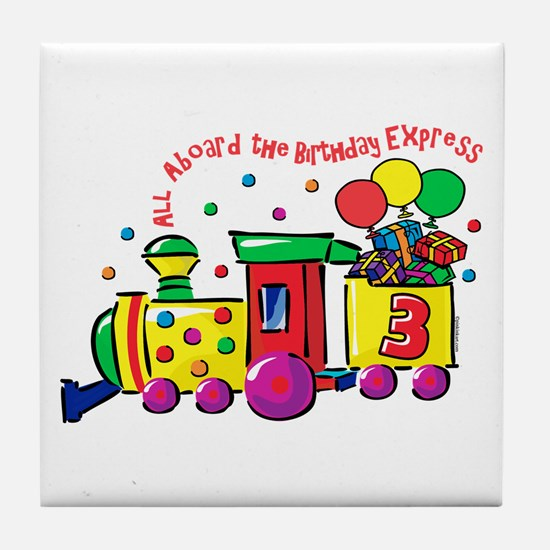 Birthday Express 3rd Tile Coaster