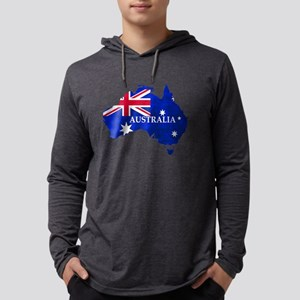 Australia flag Australian Coun Long Sleeve T-Shirt
