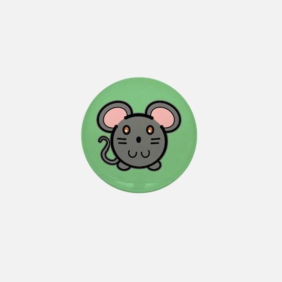Gray Mousie Mini Button