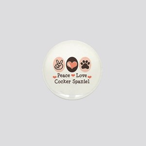 Peace Love Cocker Spaniel Mini Button