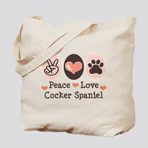 Peace Love Cocker Spaniel Tote Bag