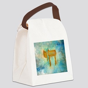 JEWISH HEBREW LETTER L'CHAYIM Canvas Lunch Bag