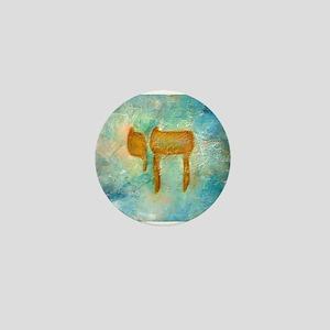 JEWISH HEBREW LETTER L'CHAYIM Mini Button (10