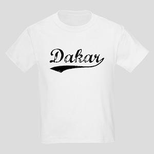 Vintage Dakar (Black) Kids Light T-Shirt