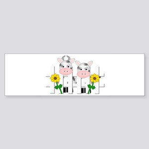 Cute Cows Bumper Sticker