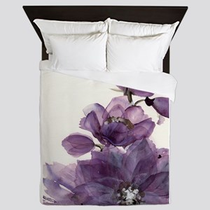 PURPLE FLOWER 2 Queen Duvet