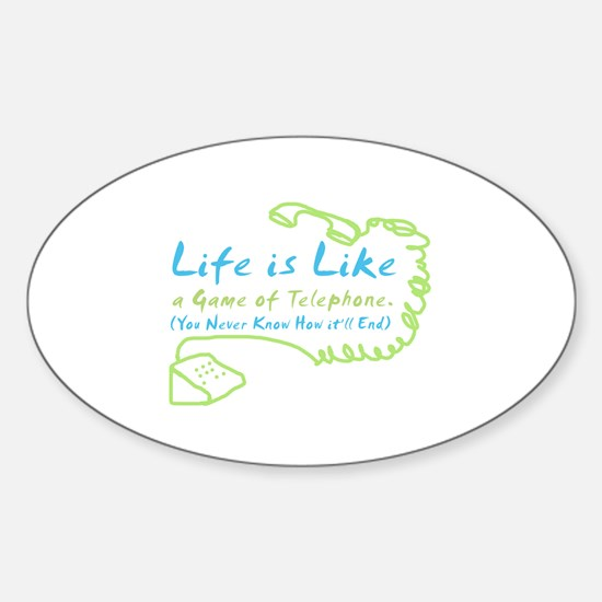 Life Telephone Oval Decal
