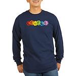 Rainbow Daisies Long Sleeve Dark T-Shirt