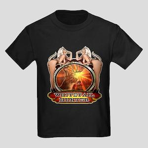 Nude whitetail hunting design Kids Dark T-Shirt
