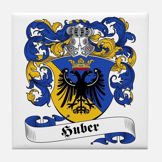 Huber Family Crest Tile Coaster