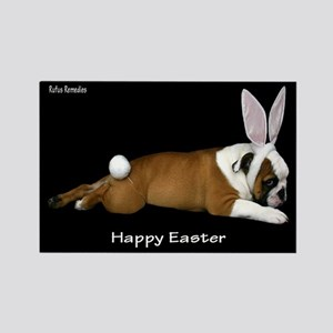 Happy Easter Bulldog Rectangle Magnet