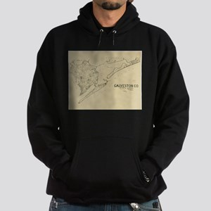 Vintage Map of Galveston Texas (1892) Sweatshirt