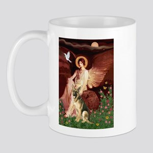 Seated Angel / German Shepherd Mug