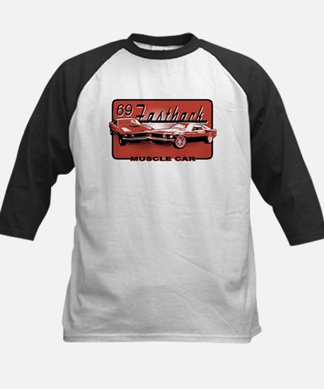 69 Fastback Muscle Car Kids Baseball Jersey