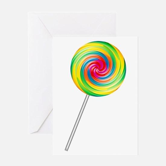 Swirly Lollipop Greeting Card