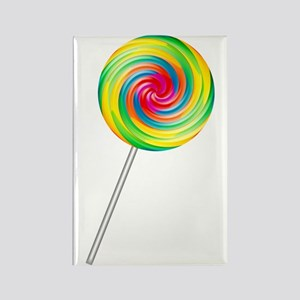 Swirly Lollipop Rectangle Magnet