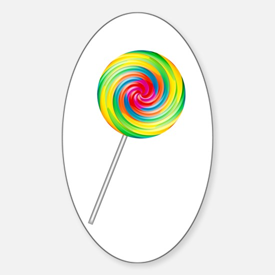 Swirly Lollipop Oval Decal