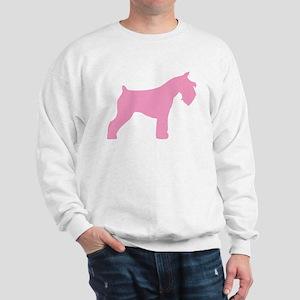 Pink Mini Schnauzer Sweatshirt