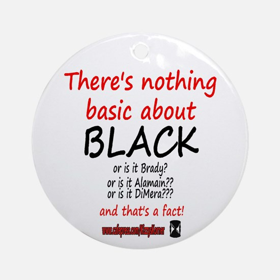 DOOL BASIC BLACK Ornament (Round)