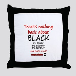 DOOL BASIC BLACK Throw Pillow