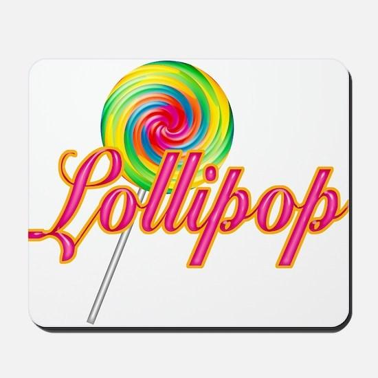 Text Lollipop Mousepad